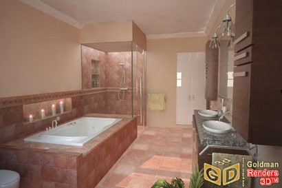 School Interior Design on Blog Goldman 3d Renderings  Interior Rendering  Master Bath New York